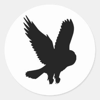 Owl in Flight Round Sticker
