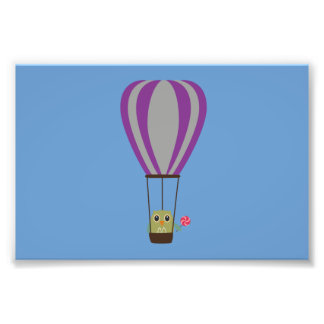 Owl in hot-air balloon with a lollipop photographic print