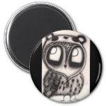 Owl in Panda-Hat Magnet