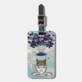 Owl In Teacup 2 Luggage Tag