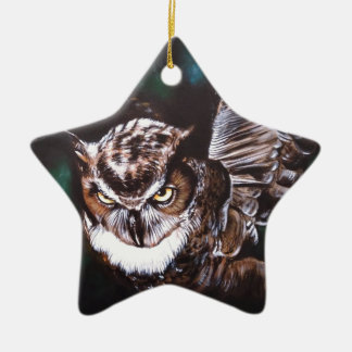 Owl in the night christmas ornament