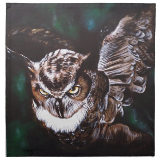 Owl in the night napkin