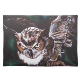 Owl in the night place mat