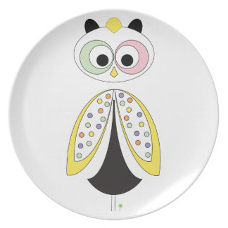 Owl in the night plate