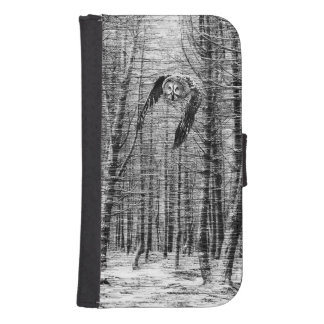 Owl in the woods samsung s4 wallet case