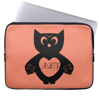 Owl Initials Computer Sleeves