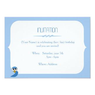 "Owl - ish Birthday Invitation Card 5"" X 7"" Invitation Card"