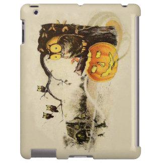 Owl Jack O' Lantern Pumpkin Tree iPad Case