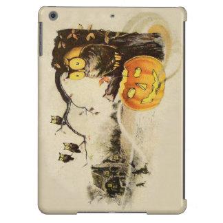 Owl Jack O' Lantern Pumpkin Tree iPad Air Cover