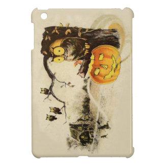 Owl Jack O' Lantern Pumpkin Tree iPad Mini Covers