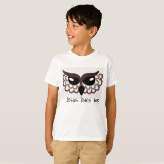 Owl, Jesus loves me T-Shirt