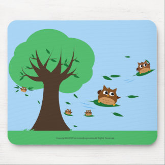 Owl Leaf Surf Design - Mousepad