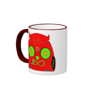 owl less infinitely red eXi Mug