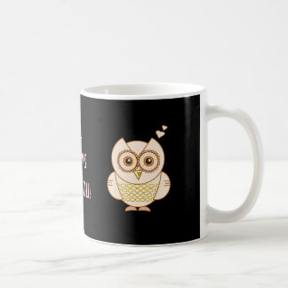 Owl Love Basic White Mug