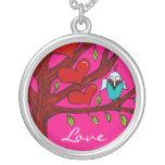 Owl Love Bird Necklace