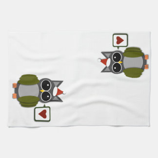 Owl Love for the Holidays! Tea Towel