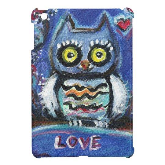 Owl love hearts iPad mini cover