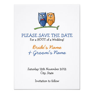 Owl Love Save the Date Announcement