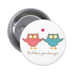 owl love you 6 cm round badge