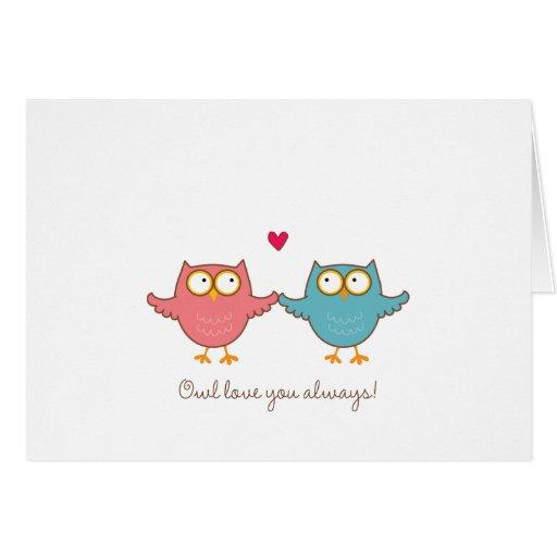 owl love you card