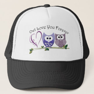 Owl Love You Forever, Cute Owls and Heart design Trucker Hat
