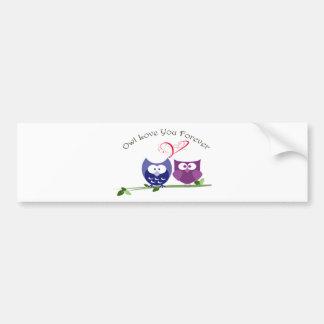Owl Love You Forever, Cute Valentine Owls Bumper Sticker