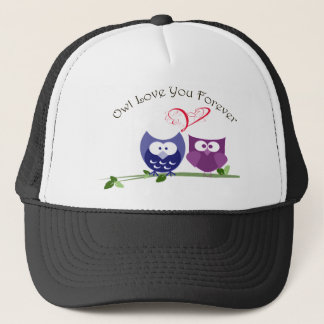 Owl Love You Forever, Cute Valentine Owls Trucker Hat