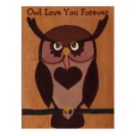 Owl Love You Forever Postcard