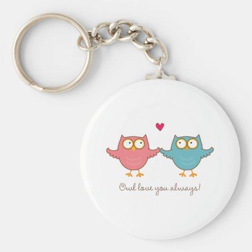 owl love you keychains