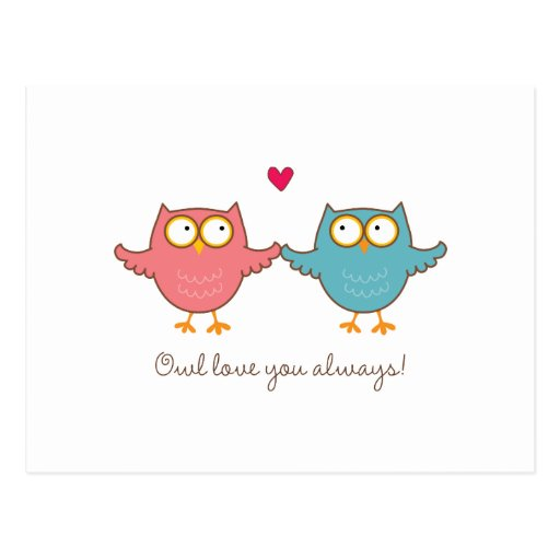 owl love you post card
