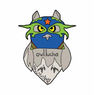Owl Lucha Star Photosculpture Cut Out