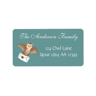 Owl mail address address label