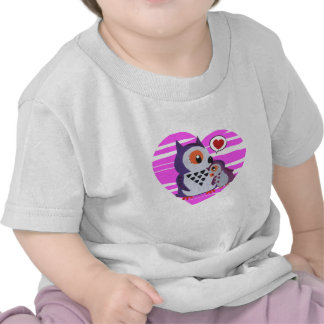 Owl Mama hugging its to daughter T Shirts