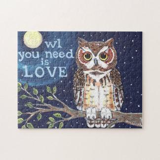 Owl Moon Halloween Night Jigsaw Puzzle Navy Autumn