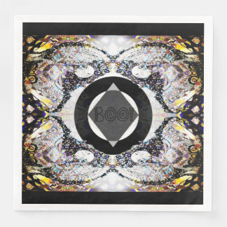 Owl Moon Mandala Boo! Paper Serviettes