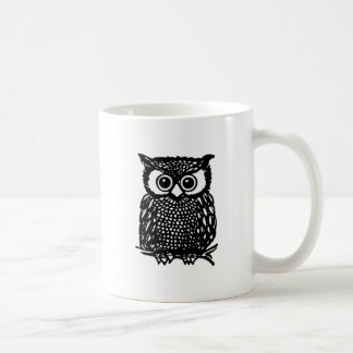 Owl Mug. Basic White Mug