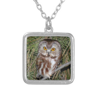 Owl Necklace - Northern Saw-whet Owl