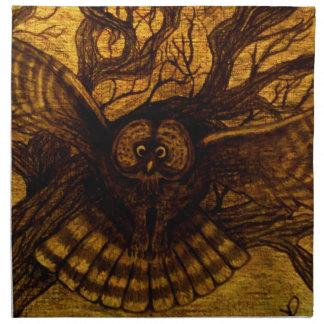 Owl, Night Flight Napkin