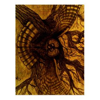 Owl, Night Flight Postcard