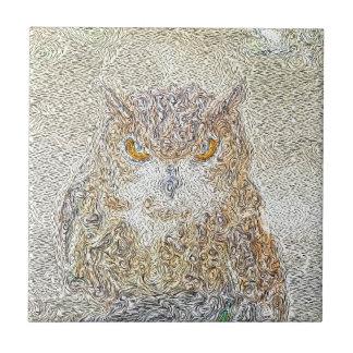 Owl Observing Tile
