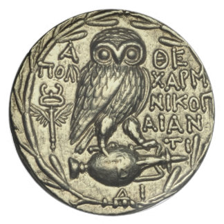 Owl of Athena Plate