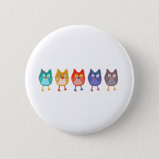 Owl of us 6 cm round badge