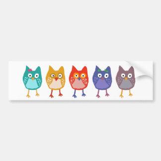 Owl of us bumper sticker