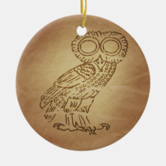 Owl of Wisdom Greek Christmas Ornament