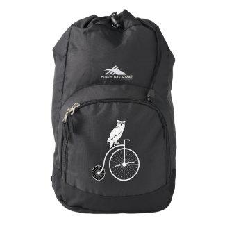 Owl on a Bike Backpack