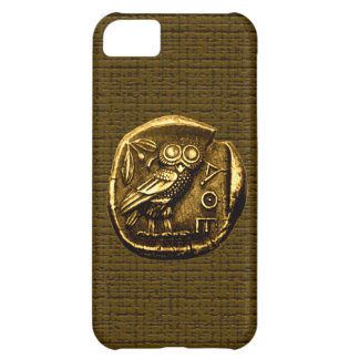 Owl on ancient greek coin iPhone 5C case