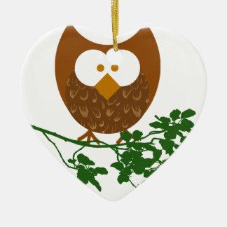 Owl on Branch #1 Christmas Ornament