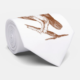 Owl On Branch Tie