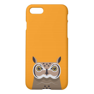 Owl on orange background iPhone 8/7 case