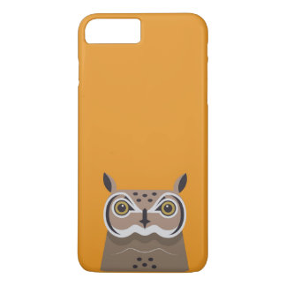 Owl on orange background iPhone 8 plus/7 plus case
